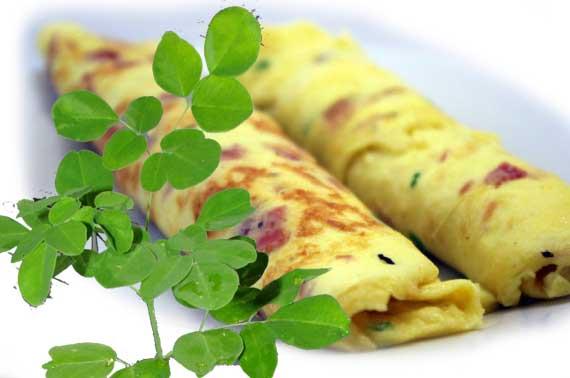 Transforme um omelete em Superomelete com folhas de Moringa
