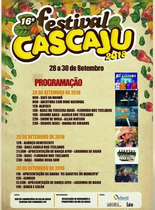 16° festa do caju do Rio da Casca – Cascaju 2018.